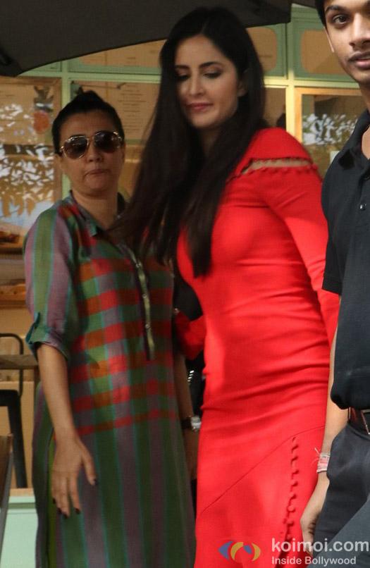Katrina kaif and Mini Mathur Spotted at Bandra