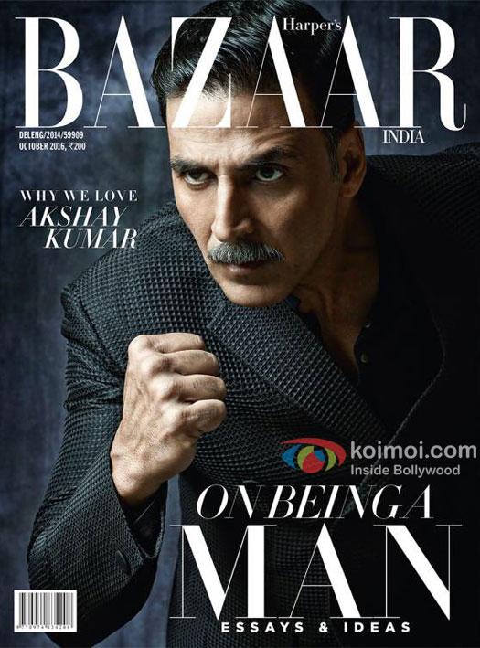 Dashing! Akshay Kumar On The Latest Cover Of Harper Bazaar