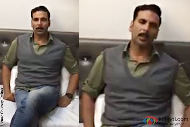 Akshay Kumar urges people to think about army, not ban on artistes
