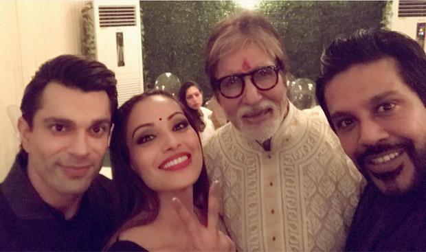 Karan Singh Grover and Bipasha Basu During The Amitabh Bachchan's Diwali party
