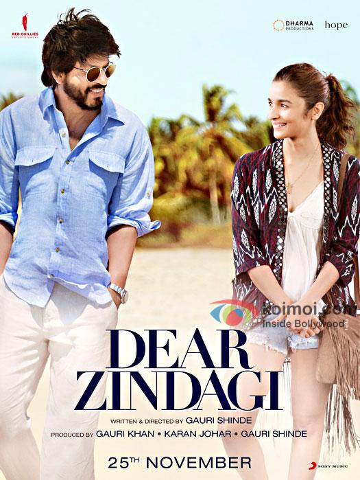 Dear Zindagi New Poster   Shah Rukh Khan And Alia Bhatt In Refreshing Look