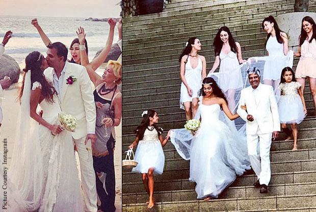 Haydon marries beau Dino Lalvani