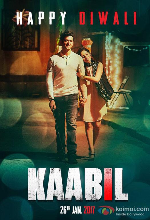 Hrithik Roshan And Yami Guatam Wish Everyone Happy Diwali In New Kaabil Poster