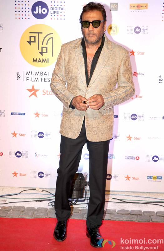 Jackie Shroff During The Jio MAMI 18th Mumbai Film Festival - Opening ceremony