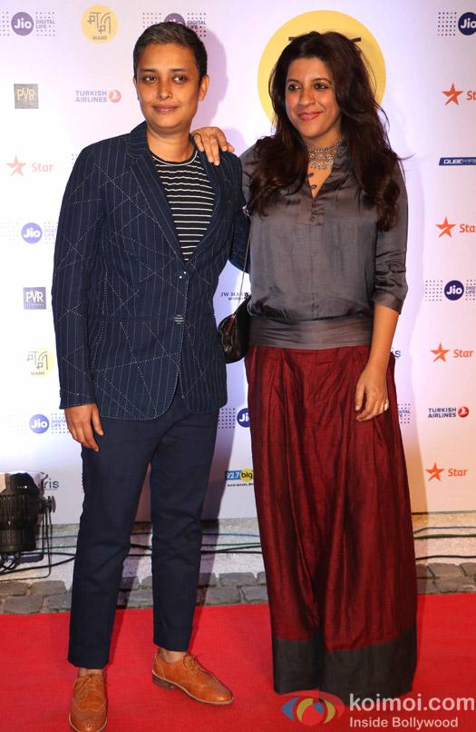 Reema Kagti and Zoya Akhtar During The Jio MAMI 18th Mumbai Film Festival - Opening ceremony