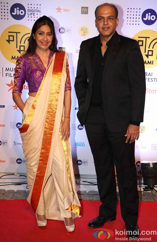 Ashutosh Gowariker and Sunita Gowariker During The Jio MAMI 18th Mumbai Film Festival - Opening ceremony