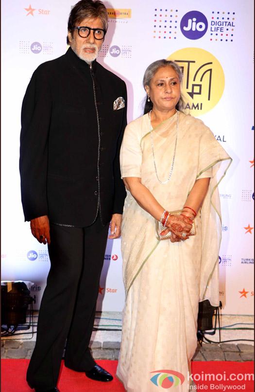 Amitabh Bachchan and Jaya Bachchan During The Jio MAMI 18th Mumbai Film Festival - Opening ceremony