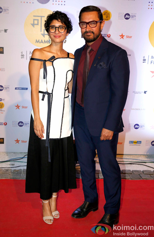 Kiran Rao and Aamir Khan During The Jio MAMI 18th Mumbai Film Festival - Opening ceremony
