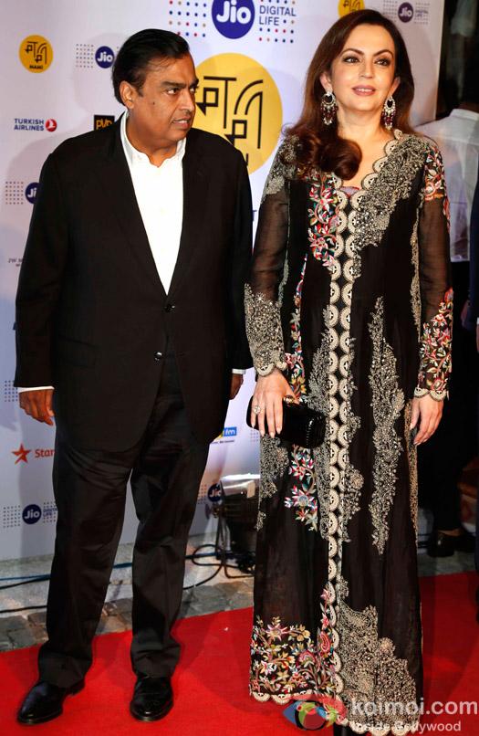 Mukesh Ambani and Nita Ambani During The Jio MAMI 18th Mumbai Film Festival - Opening ceremony