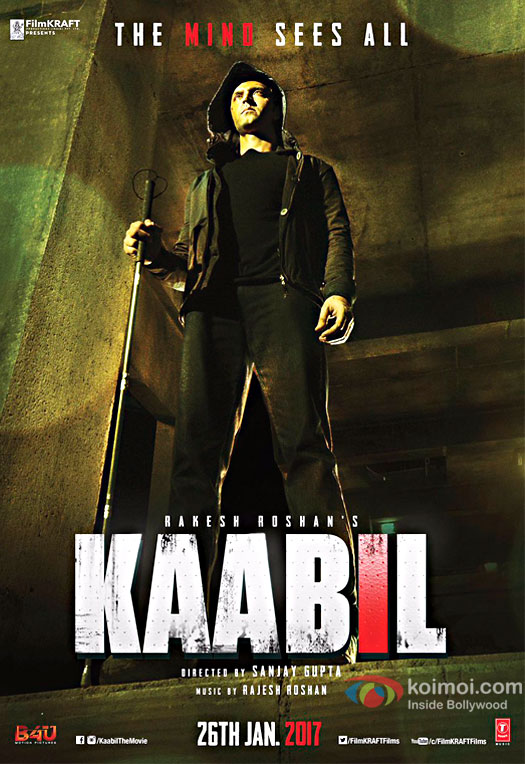 Kaabil First Look Poster: Hrithik Roshan Steps Out Of Darkness