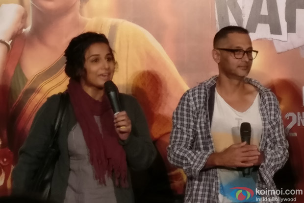 Vidya Balan and Sujoy Ghosh during the Kahaani 2 Trailer Launch