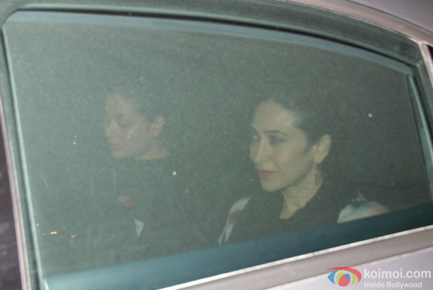 Kareena Kapoor Khan and Karisma Kapoor spotted at Karan Johar's house