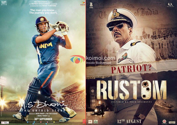 M.S Dhoni - The Untold Story Beats Rustom's Lifetime Collections