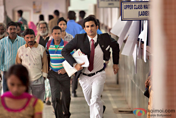 Sushant Singh Rajput in a still from M. S. Dhoni: The Untold Story