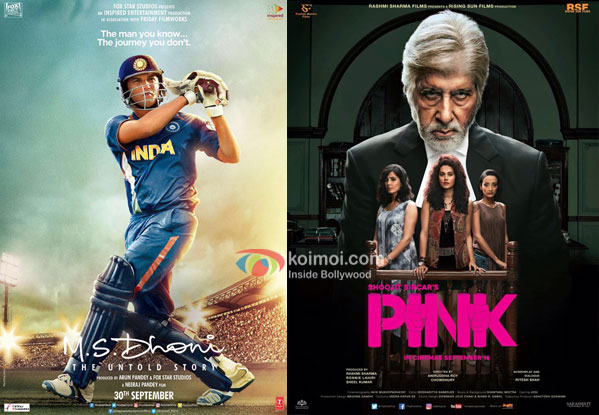 M.S. Dhoni: The Untold Story Evicts Pink; Becomes 10th Highest Grosser