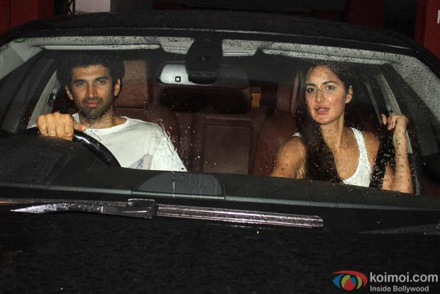 Aditya Roy Kapur and Katrina Kaif spotted at Bandra