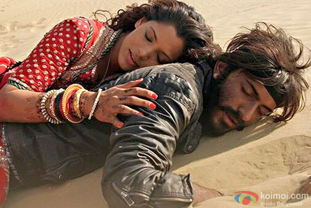 Saiyami Kher and Harshvardhan Kapoor in a still from Mirzya