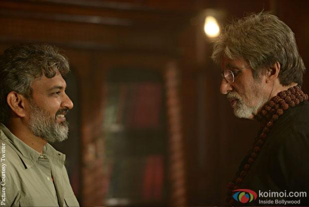 On Set Of Sarkar 3: Bahubali Director Rajamouli With Amitabh Bachchan