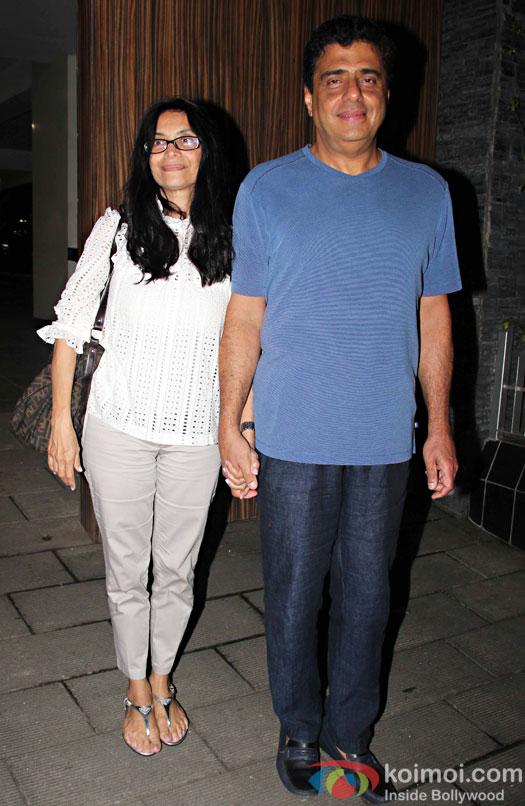 Zarina Mehta And Ronnie Screwvala at Aamir Khan's residence