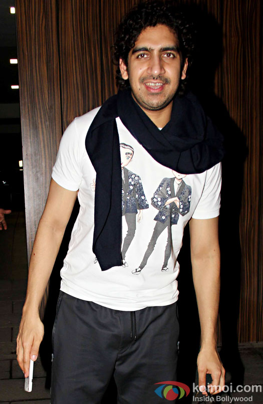 Ayan Mukerji at Aamir Khan's residence