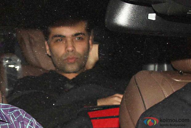 Karan Johar attend Party at Aamir Khan's residence