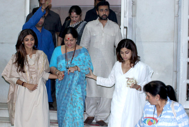 Prayer meeting of Shilpa Shetty's father Surendra Shetty