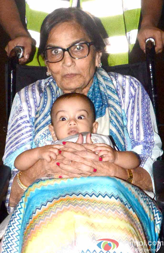 Salman Khan's Mother Sushila Charak and Nephew Ahil spotted at Airport