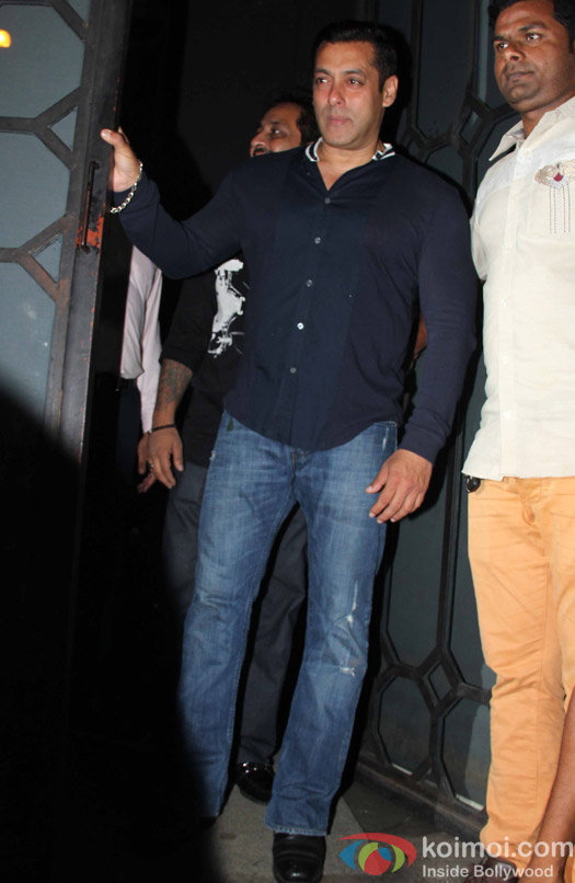 Salman Khan at Aayush Sharma's Birthday Party