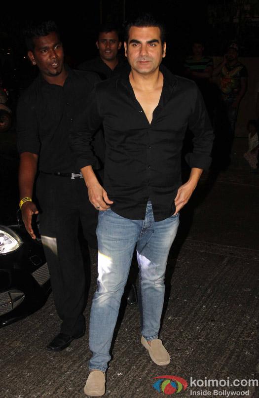 Arbaaz Khan at Aayush Sharma's Birthday Party