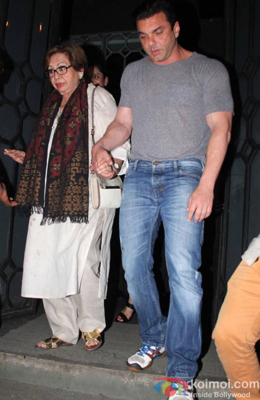 Helen and sohail Khan at Aayush Sharma's Birthday Party
