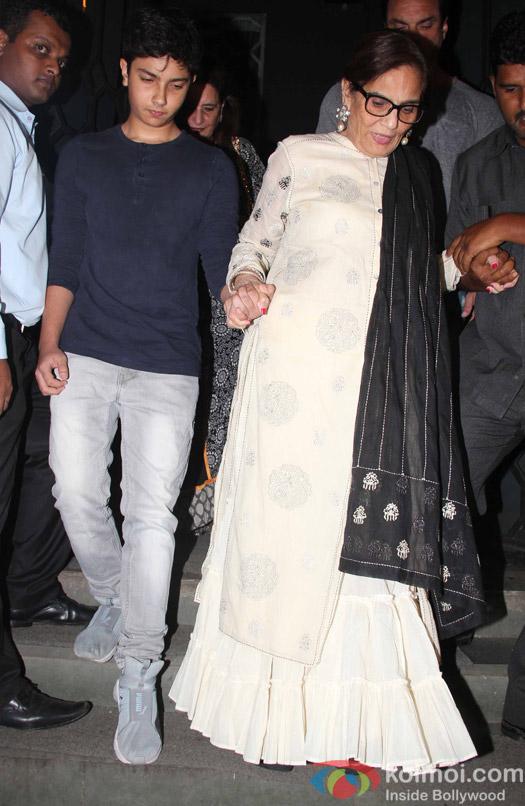 Nirvaan Khan and Sushila Charak at Aayush Sharma's Birthday Party