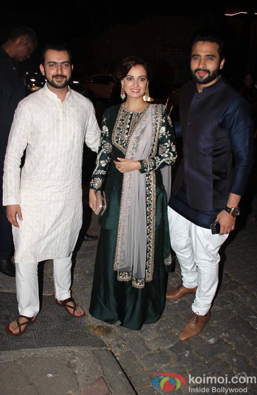 Sahil Sangha, Dia mirza and Jackie Bhagnani at Aayush Sharma's Birthday Party