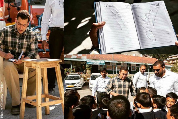 Tubelight Diaries: Salman Gives Autographs To School Children In Manali