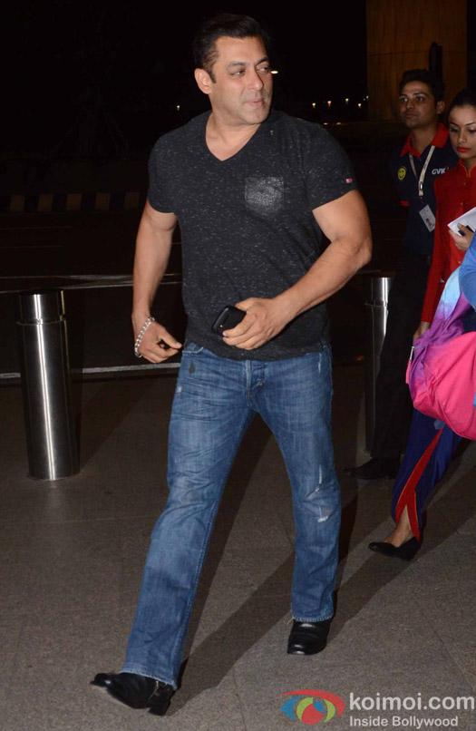 Salman Khan spotted at Airport