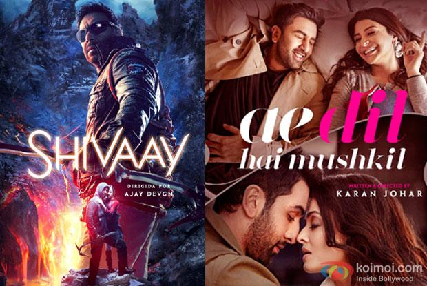 Shivaay And Ae Dil Hai Mushkil Advance Bookings