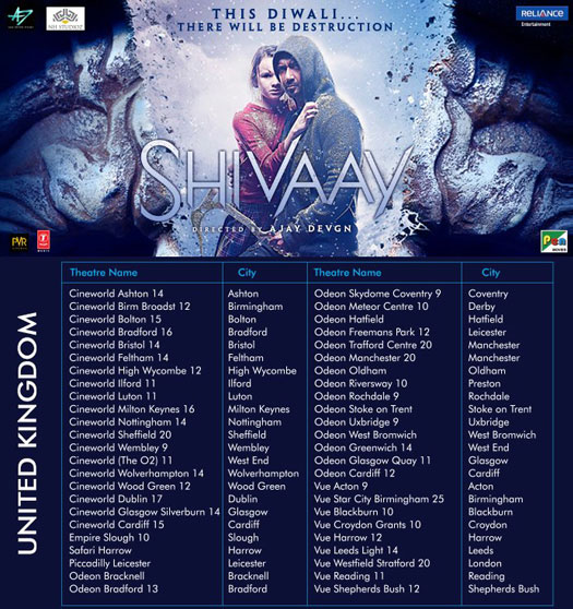 Shivaay's To Release In United Kingdom