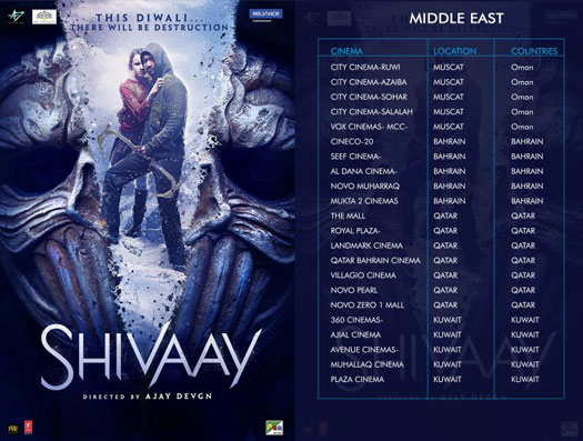 Shivaay's To Release In Middle East