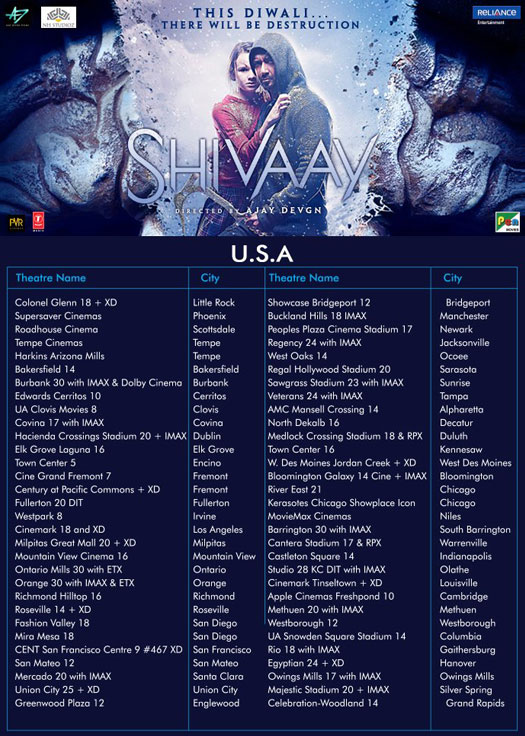 Shivaay's To Release In U.S.A