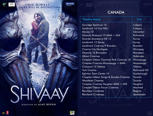 Shivaay's To Release In Canada