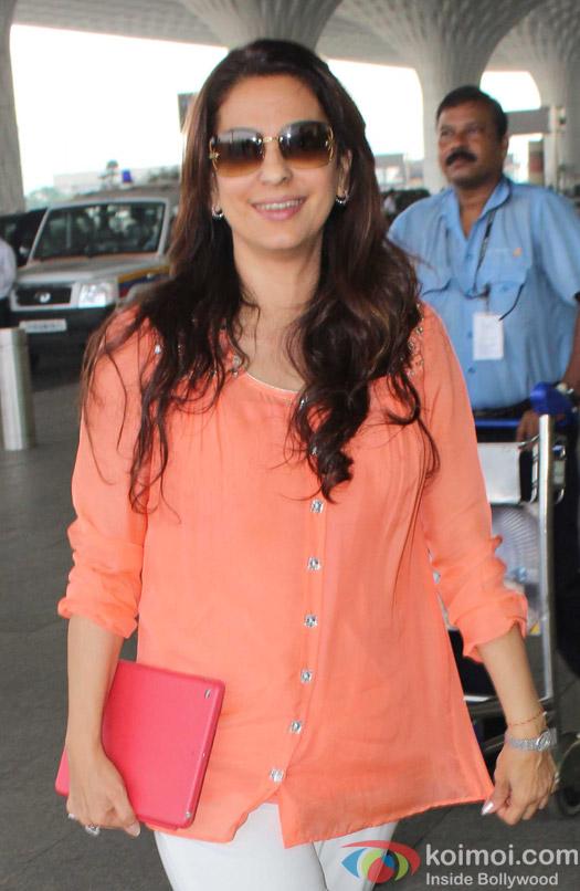 Juhi Chawala spotted at Airport