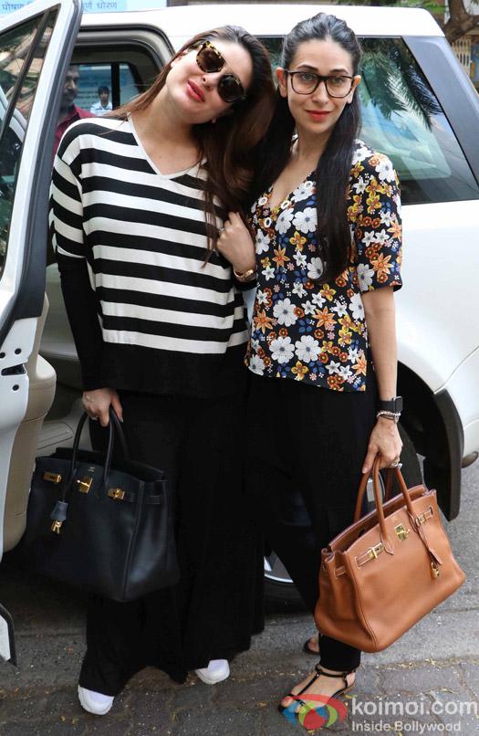 Kareena kapoor and Karisma Kapoor spotted at hakksan