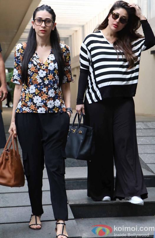 Kareena kapoor and Karisma Kapoor spotted at hakkasan