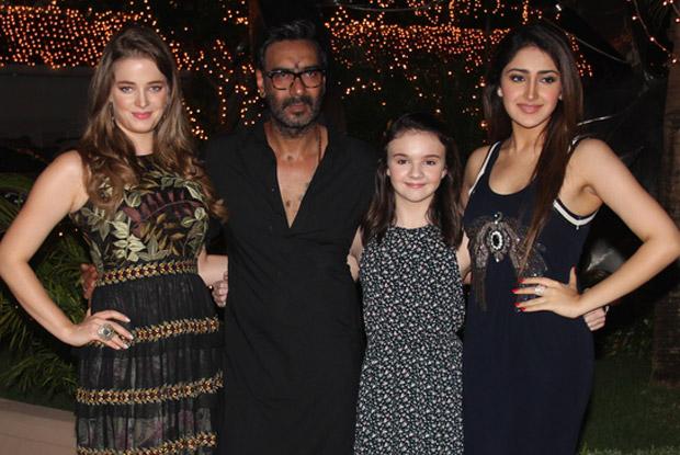Ajay Devgan, Sayesha Saigal, Erika Kaar and Abigail Eames at special screening of Shivaay