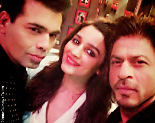 Shah Rukh Khan and Alia Bhatt shoot for Karan Johar's Koffee With Karan