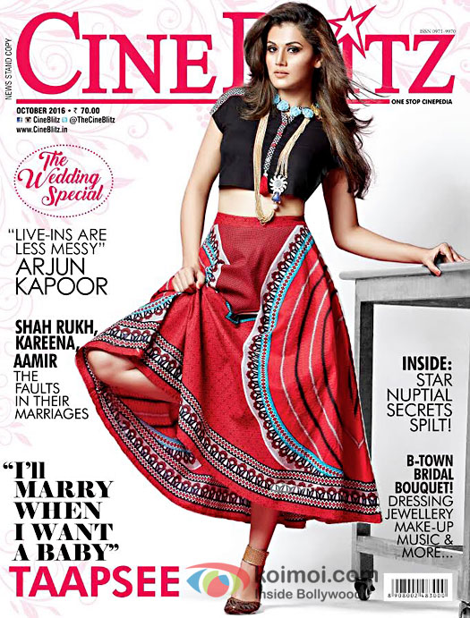 Taapsee Pannu On The CineBlitz Cover