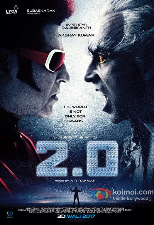 2.0 New Poster Showcases Face-Off Between Akshay & Rajinikanth