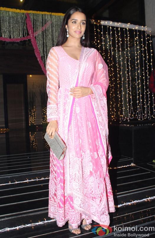Shraddha Kapoor during Aamir Khan's Diwali celebration