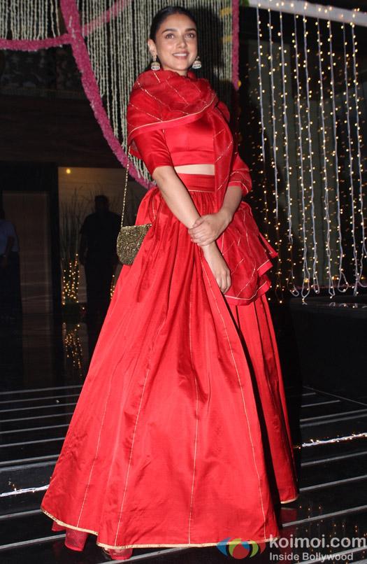 Aditi Rao Hydri during Aamir Khan's Diwali celebration