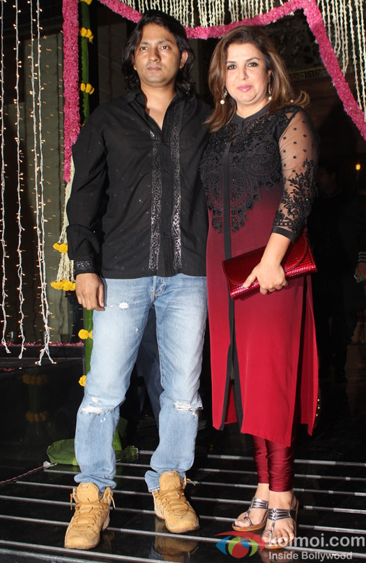 Shirish Kunder and Farah Khan during Aamir Khan's Diwali celebration