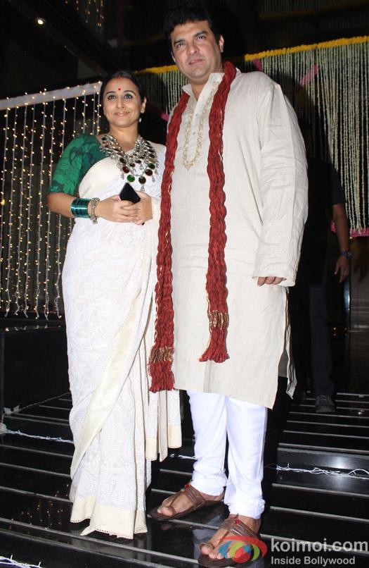 Vidya Balan and Siddharth Roy Kapoor during Aamir Khan's Diwali celebration